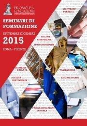 Promo P.A. - Seminari di formazione set/dic 2015