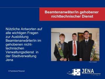 Beamtenanwäter/in gehobener nichttechnischer Dienst - Jena