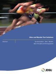 Jitter and Wander Test Solutions - JDSU