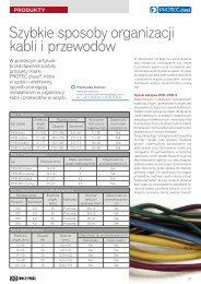 Szybkie sposoby organizacji kabli i przewodów