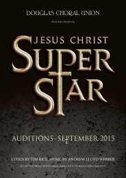 | audition information |