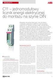 jednomodułowy licznik energii elektrycznej do montażu na szynie DIN