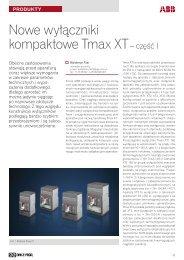 Nowe wyłączniki kompaktowe Tmax XT