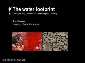The water footprint