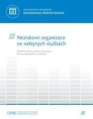 Neziskové organizace ve veřejných službách
