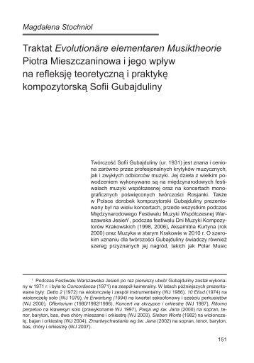 Musiktheorie Magazines