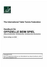 handbuch für offizielle beim spiel - ITTF