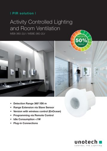 Activity Controlled Lighting and Room Ventilation