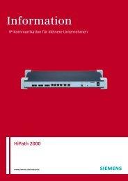 HiPath 2000 d - Hakom IP communications, Inhaber Alexander Hahn