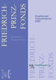 Augsburger Fassadenpreis 2009 - Stadt Augsburg