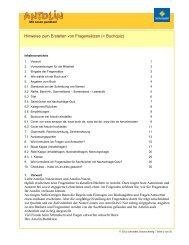 Hinweise zum Erstellen von Fragensätzen (= Buchquiz) - Antolin