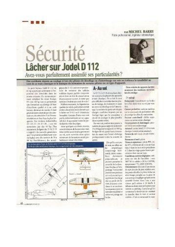 Lâcher sur Jodel D 112