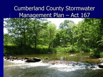 Cumberland County Stormwater Management Plan – Act 167