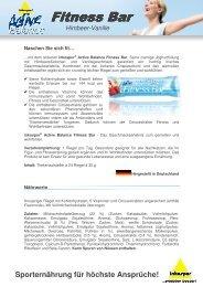 Produktinfos inkospor Active Balance Fitness Bar Himbeer-Vanille ...