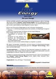 PI Riegel Active Energy Rum-Trüffel 110630