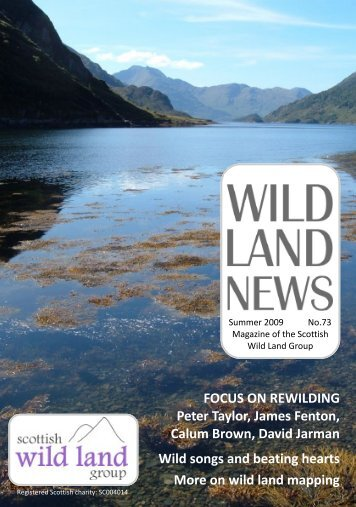 Calum Brown David Jarman Wild songs and beating hearts More on wild land mapping