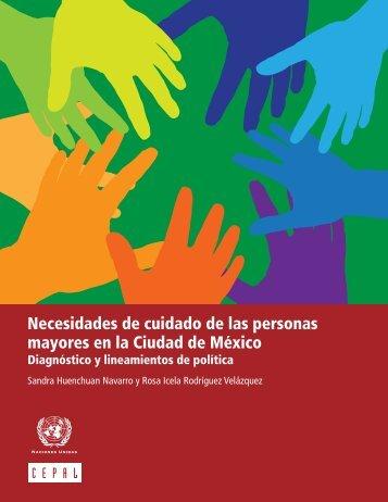Necesidades de cuidado de las personas mayores en la Ciudad de México