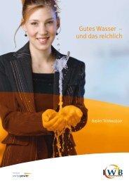 Gutes Wasser – und das reichlich - IWB Industrielle Werke Basel
