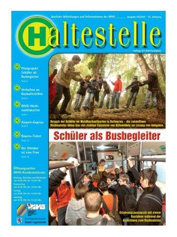 Amtliche Mitteilungen und Informationen der INVG - Ingolstädter ...