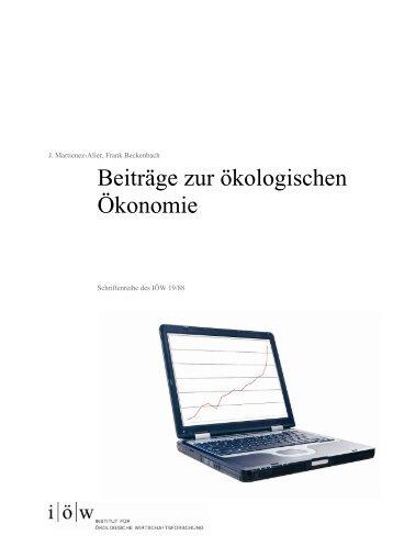 Beiträge zur ökologischen Ökonomie - Institut für ökologische ...