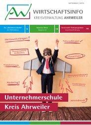AW Wirtschaftsinfo September 2015 - Unternehmerschule Kreis Ahrweiler