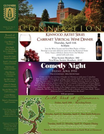 April Newsletter 2013 - Glenmoor Country Club