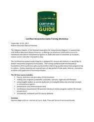 Certified Interpretive Guide Training Workshop