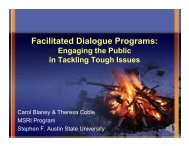 Facilitated Dialogue Programs