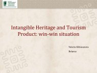 Intangible Heritage and Tourism Product win-win situation