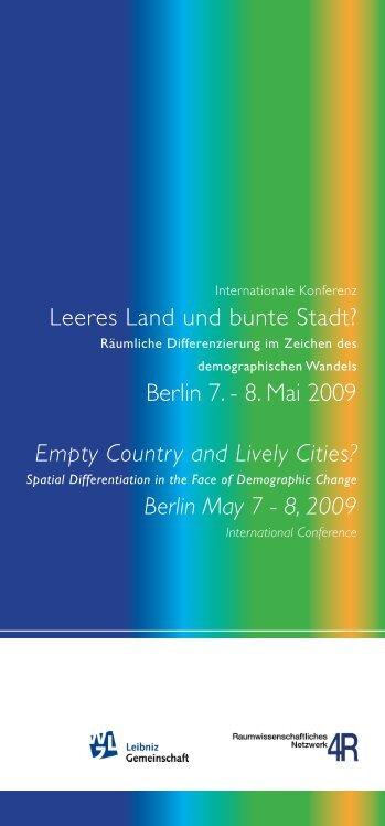 Leeres Land und bunte Stadt? - Leibniz-Institut für ökologische ...