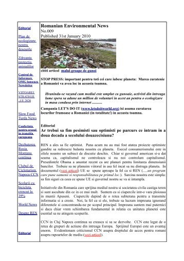 Romanian Environmental News