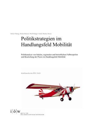 Politikstrategien im Handlungsfeld Mobilität - Institut für ökologische ...