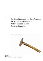 Der Öko-Baumarkt im Öko-Zentrum NRW - Institut für ökologische ...