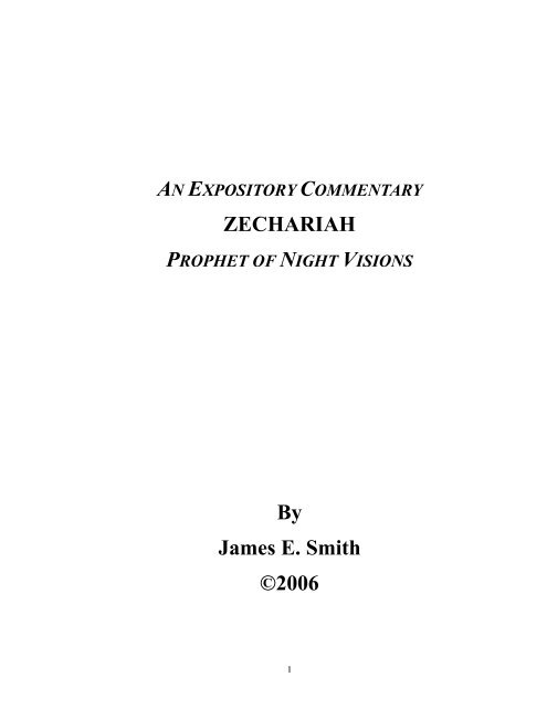 The Minor Prophets by James E Old Testament Survey Smith