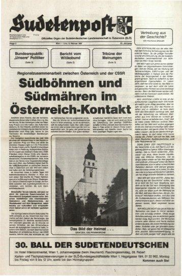 Südböhmen und Südmähren im ÖÖsterreich-Kontakt - Sudetenpost
