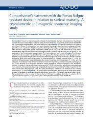 Comparison of treatments with the Forsus fatigue resistant device in ...