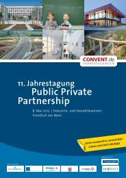 11. Jahrestagung Public Private Partnership - IQB Career Services AG