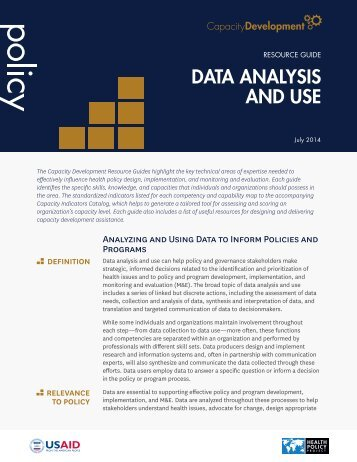 DATA ANALYSIS AND USE