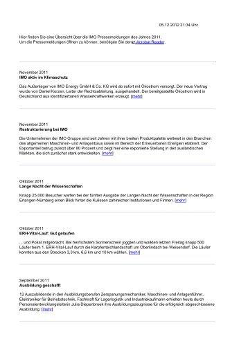 PDF generieren - IMO