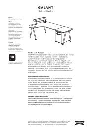 GALANT – Alle Teile und Preise - Ikea