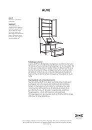 Stängt pga semester I serien ALVE finns färdigfixade ... - Ikea