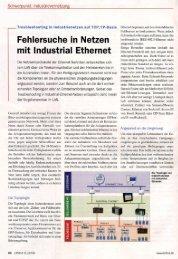 Fehlersuche in Netzen mit Industrial Ethernet