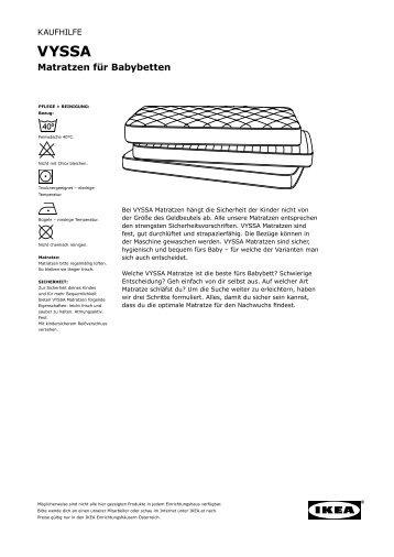 Die richtige Matratze - Ikea