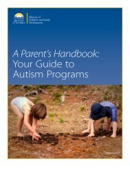 A Parent's Handbook Your Guide to Autism Programs