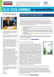 ILO COLOMBO e-newsletter - International Labour Organization