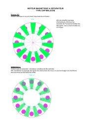 moteur magnetique a obturateur type cap-maloche - Econologie.info