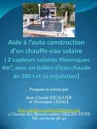 Aide à l'auto-construction d'un chauffe-eau solaire - Econologie.info