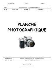 PLANCHE PHOTOGRAPHIQUE