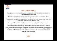 EDF COMMUNIQUE EDF