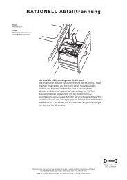 So wird die RATIONELL Abfalltrennung zusammengestellt - Ikea